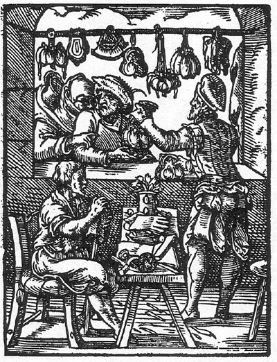The Bag Maker from the Book Of Trades - 1568