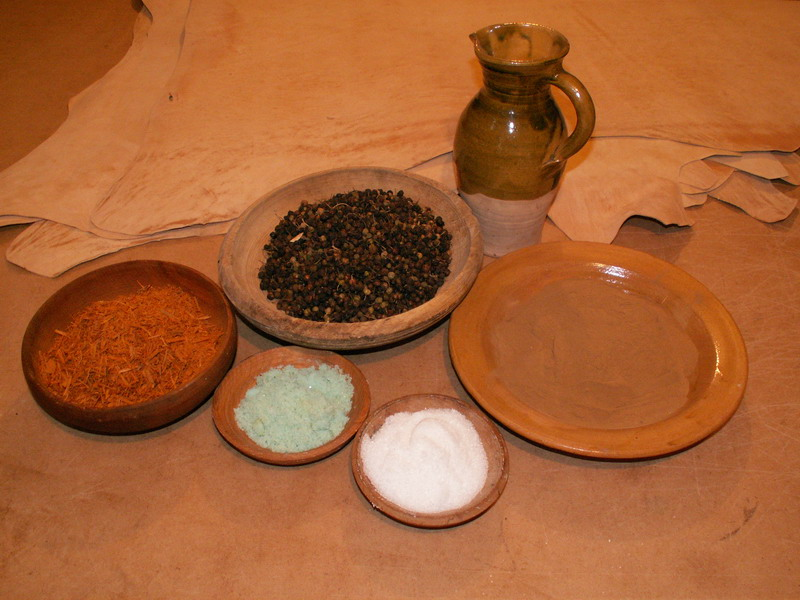Period leather dyes