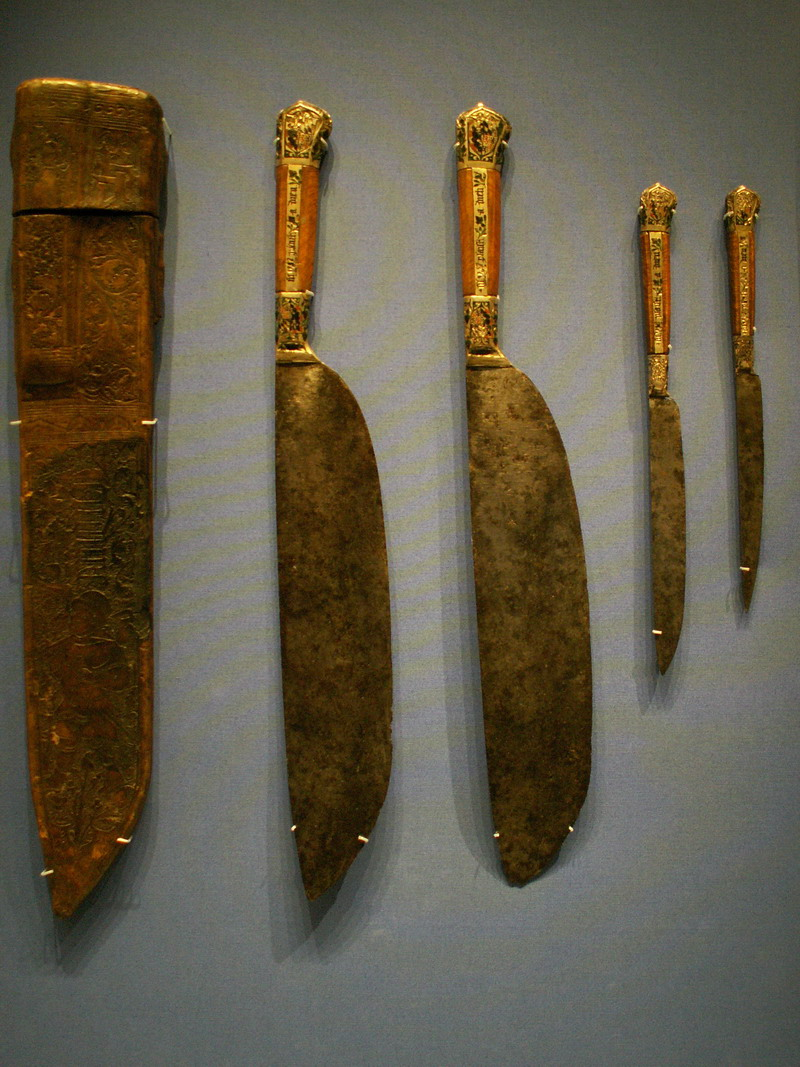 Surviving set of 16th century cased knives