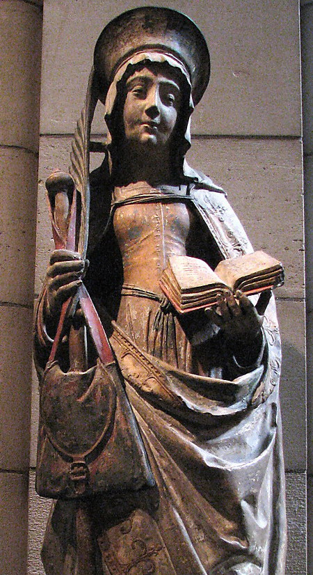 Statue of Saint Savina of Troyes 1510 in the Metropolitan Museum of Art