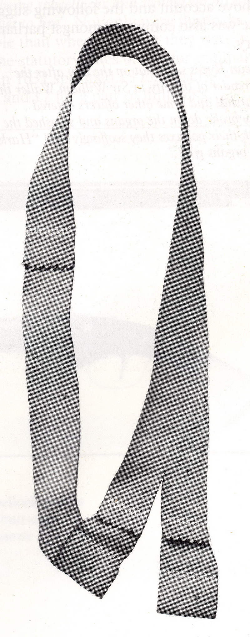 Surviving troopers baldric in the Royal Armouries Museum