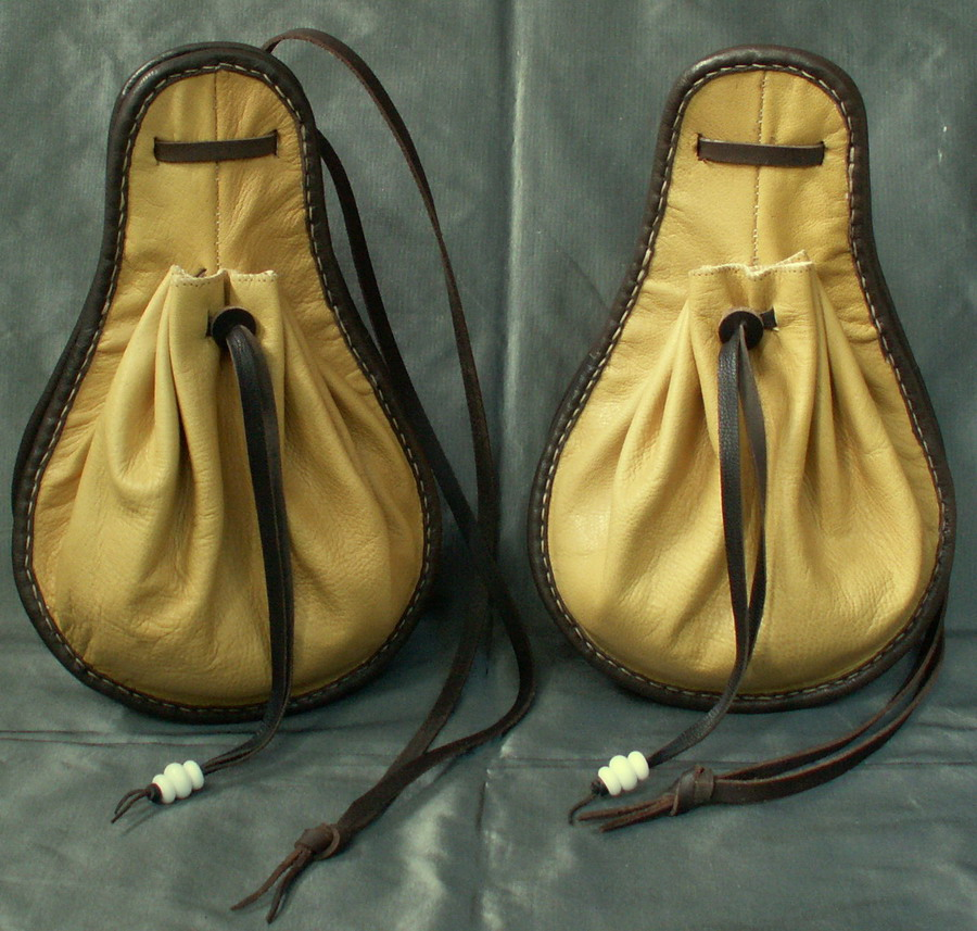 Matching pair of 16th century purses