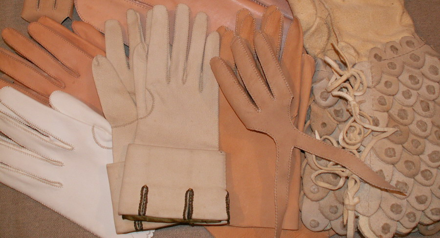Hand made leather gloves