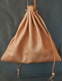 Ladies 14th/15th century large square drawstring purse