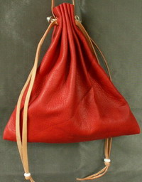 Ladies 14th/15th century square drawstring purse