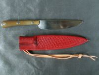 Scale tang knife