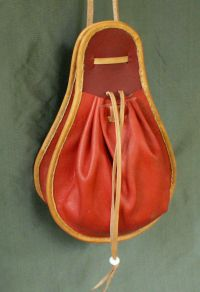 Ladies 16th century pear shaped purse with two sections