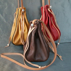 Round Draw String Purse